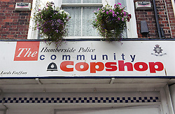 Front of community police station,