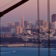 A general overview of the San Francisco skyline and the Golden Gate Bridge from the Marin Headlands in San Francisco, California on Saturday, Sept. 17, 2011. The Golden Gate Bridge is undergoing a re-painting of the main support cables for the first time in 75 years and is expected to be completed by 2015.(AP Photo/Alex Menendez) Golden Gate Bridge in San Francisco, California. Golden Gate Bridge in San Francisco, California.