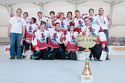 Champions of Inline hockey national league under 14 are team Ice Elite, on June 4, 2011 in Sportni park, Horjul, Slovenia. (Photo by Matic Klansek Velej / Sportida)