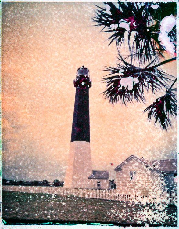 The restored Revolutionary War lighthouse on Tybee Island, near Savannah, Georgia.