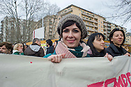 Roma, 8 Marzo 2014<br /> Donne,corteo dell'8 Marzo per l'autodeterminazione, contro la violenza di genere e  l'obiezione di coscienza,in difesa della legge 194.	<br /> Rome, March 8, 2014 <br /> Demonstration of the  women for  March 8 for self-determination, against gender-based violence and conscientious objection, in defense of the law 194.