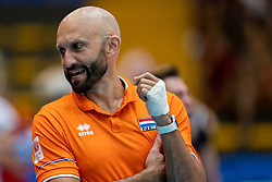 02-08-2019 ITA: FIVB Tokyo Volleyball Qualification 2019 / Belgium - Netherlands, Catania<br /> 1e match pool F in hall Pala Catania between Belgium - Netherlands / Coach Jamie Morrison of Netherlands