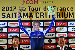 November 4, 2017 - Saitama, Japan - Marcel Kittel (Quick Step Floors) celebrates his win in the SPRINT Race during the 5th edition of TDF Saitama Criterium 2017 - Sprint Race..On Saturday, 4 November 2017, in Saitama, Japan. (Credit Image: © Artur Widak/NurPhoto via ZUMA Press)