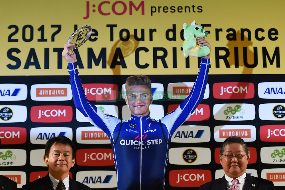 November 4, 2017 - Saitama, Japan - Marcel Kittel (Quick Step Floors) celebrates his win in the SPRINT Race during the 5th edition of TDF Saitama Criterium 2017 - Sprint Race..On Saturday, 4 November 2017, in Saitama, Japan. (Credit Image: © Artur Widak/NurPhoto via ZUMA Press)