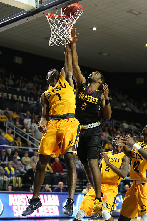 December 10, 2017 - Johnson City, Tennessee - Freedom Hall: ETSU guard Desonta Bradford (1)<br /> <br /> Image Credit: Dakota Hamilton/ETSU
