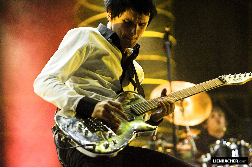 Matthew Bellamy of Muse rocks the stage at the frequency Festival in Salzburg, 2006