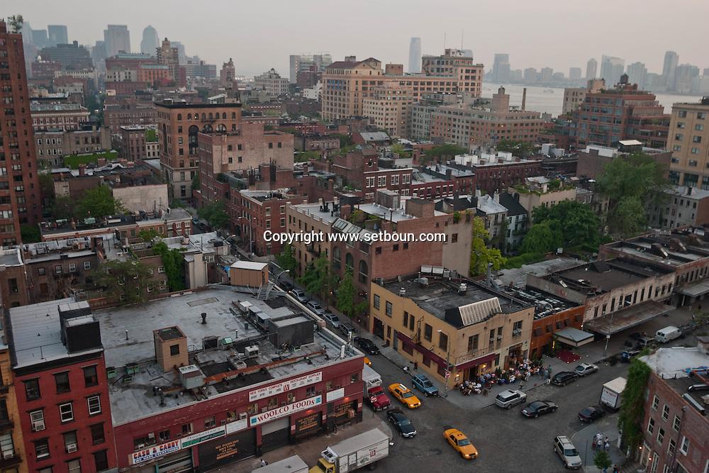 New York. Meat packing district elevated view-  New york - United states / le meat packing district ancien quartier de la viande  vue du hautNew york - Etats unis