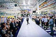 Stabilimento Maserati di Grugliasco (Torino) - dove vengono prodotte la Maserati Quattroporte e la Maserati Ghibli. New Maserati factory at Grugliasco as Fiat opens a new plant for the manufacture of Maserati sport cars near its headquarters in Turin,