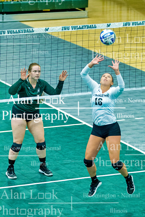 BLOOMINGTON, IL - August 24: Caitlin Meyer during  the IWU Titans Women<br /> s Volleyball Green-White scrimmage on August 24 2019 at Shirk Center in Bloomington, IL. (Photo by Alan Look)