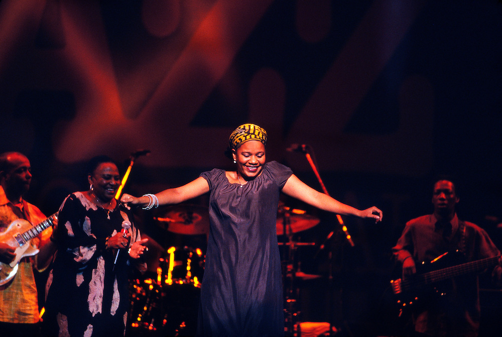 Backup singer with Miriam Makeda performing at the Montreal International Jazz Festival, Montreal, Quebec, Canada