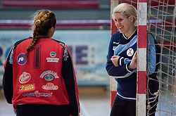 Branka Zec and Misa Marincek at practice of Slovenian Handball Women National Team, on June 3, 2009, in Arena Kodeljevo, Ljubljana, Slovenia. (Photo by Vid Ponikvar / Sportida)