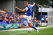 Ipswich Town forward Kayden Jackson (9)  can't keep this in play during the EFL Sky Bet Championship match between Ipswich Town and Bolton Wanderers at Portman Road, Ipswich, England on 22 September 2018.