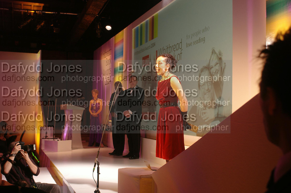 Andrea Levy. 2004 Whitbread Book Awards. The Brewery, Chswell st. London EC1. 25 January 2005. ONE TIME USE ONLY - DO NOT ARCHIVE  © Copyright Photograph by Dafydd Jones 66 Stockwell Park Rd. London SW9 0DA Tel 020 7733 0108 www.dafjones.com