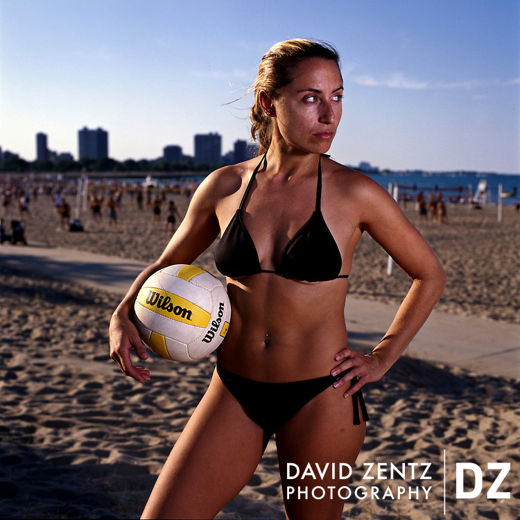 Jenni Stephens, 31, is a regular at Chicago's North Beach volleyball scene.