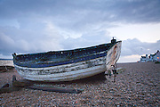 Boat, on a beach in Suffolk