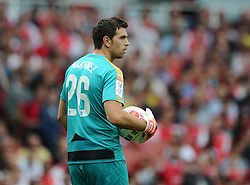 Emiliano Martinez of Arsenal   - Mandatory by-line: Joe Meredith/JMP - 25/07/2015 - SPORT - FOOTBALL - London,England - Emirates Stadium - Arsenal v Lyon - Emirates Cup