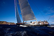 P2 sailing in The Superyacht Cup regatta, Antigua 2010, race one.