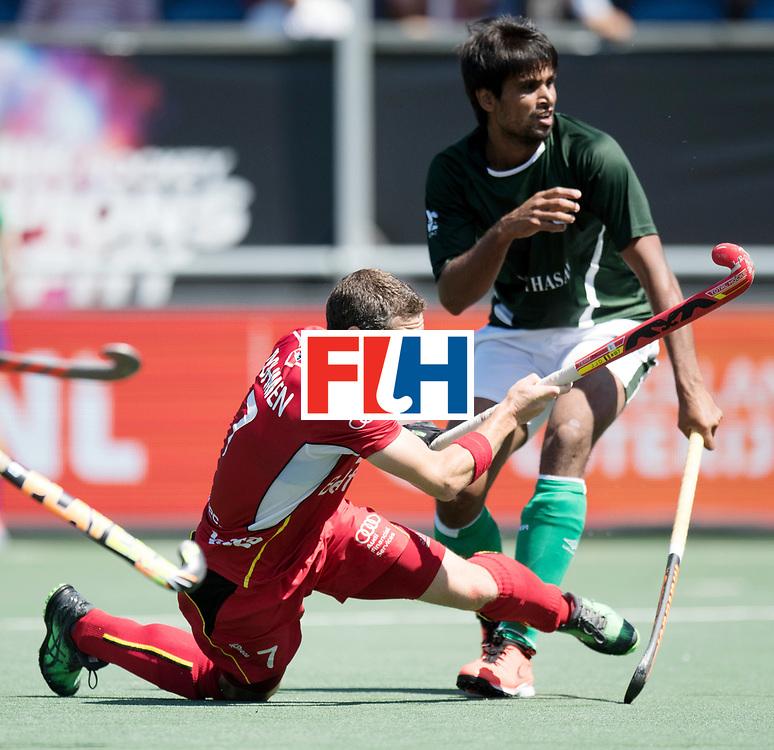 BREDA - Rabobank Hockey Champions Trophy<br /> 5th/6th place Belgium - Pakistan<br /> Photo: John-John Dohmen.<br /> COPYRIGHT WORLDSPORTPICS FRANK UIJLENBROEK