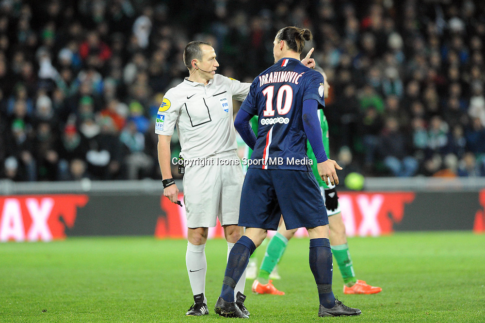 Ruddy BUQUET /  Zlatan IBRAHIMOVIC - 25.01.2015 - Saint Etienne / PSG  - 22eme journee de Ligue1<br />
