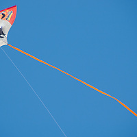A kite flys above the Santa Monica Pier on Monday, May 9, 2011.