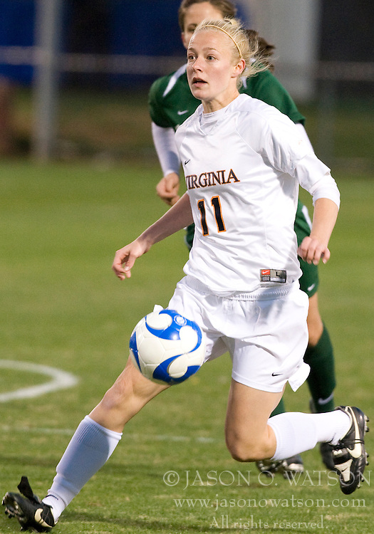 Virginia defender/midfielder Becky Sauerbrunn (11)..The Virginia Cavaliers defeated the Loyola (MD) Greyhounds 4-1 in the first round of the NCAA Women's Soccer tournament held at Klockner Stadium in Charlottesville, VA on November 16, 2007.