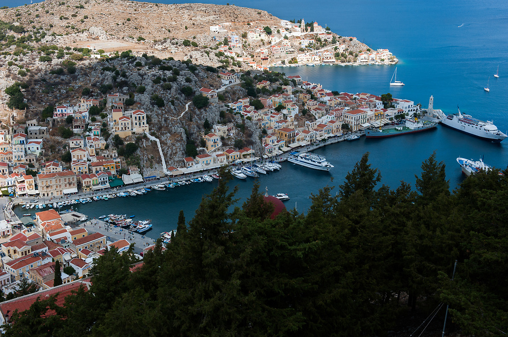 Admire the architecture of Symi. Symi Island, Dodecanese, Greece