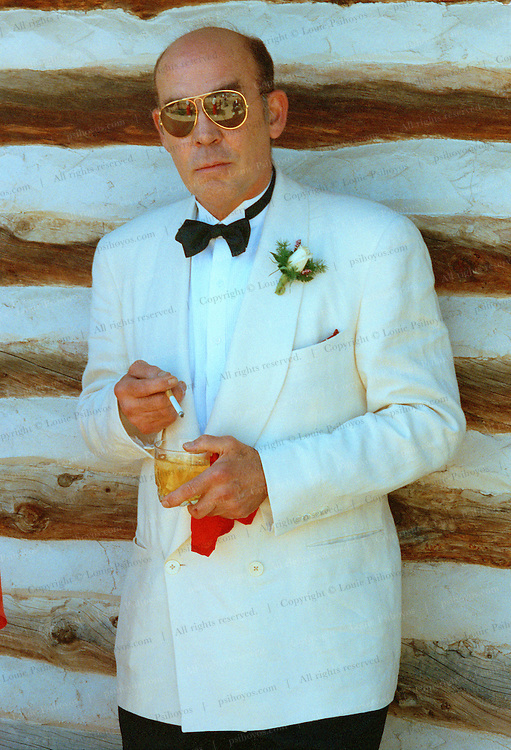 "Hunter S. Thompson, author of ""Fear and Loathing in Las Vegas"".  Photographed at his son's Juan wedding in Gold Hill, Colorado."