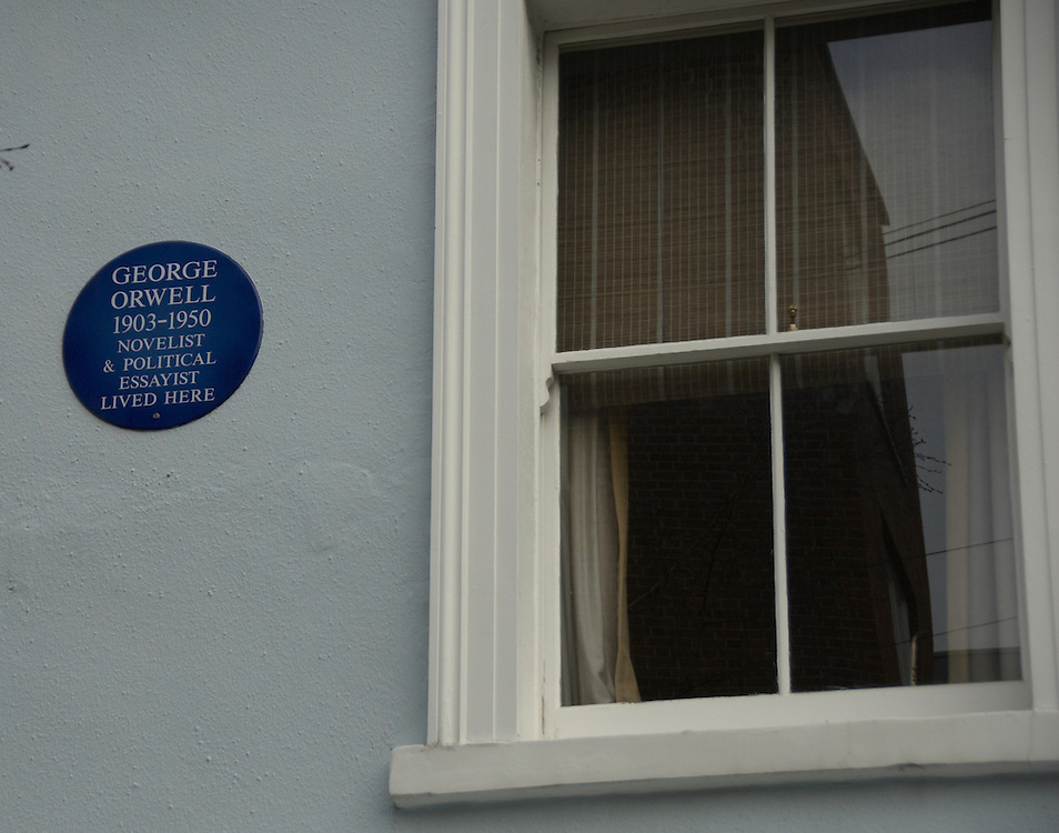The house in Portobello Road where George Orwell lived in 1927