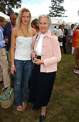 "Left to right, LADY ALEXANDRA GORDON-LENNOX and and the DUCHESS OF RICHMOND & GORDON at the Goodwood Festival of Speed on 9th July 2006.  Cartier sponsored the ""Style Et Luxe' for vintage cars on the final day of this annual event at Goodwood House, West Sussex and hosted a lunch.<br />