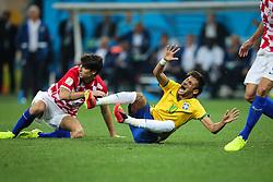 Neymar Jr. do Brasil na estréia da Copa do Mundo 2014, na Arena Corinthians, em São Paulo. FOTO: Jefferson Bernardes/ Agência Preview