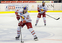 03.01.20118, Eiswelle, Bozen, ITA, EBEL, HCB Suedtirol Alperia vs EC Red Bull Salzburg, 36. Runde, im Bild Julien Brouillette (EC RBS), Robert Schremp (EC RBS) // during the Erste Bank Icehockey League 36th round match between HCB Suedtirol Alperia and EC Red Bull Salzburg at the Eiswelle, Bozen, italy on 2018/01/03. EXPA Pictures © 2018, PhotoCredit: EXPA/ Johann Groder