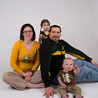 NDSU family portrait.