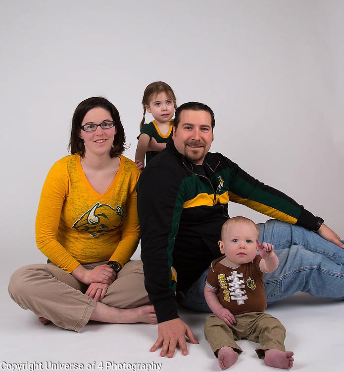 NDSU family portrait.