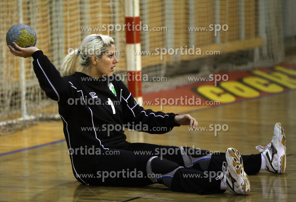 Goalkeeper of Olimpija Misa Marincek at  handball game between women team RK Olimpija vs ZRK Brezice at 1st round of National Championship, on September 13, 2008, in Arena Tivoli, Ljubljana, Slovenija. Olimpija won 41:17. (Photo by Vid Ponikvar / Sportal Images)