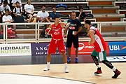 Andrea Cinciarini, Christian Burns<br /> Raduno Nazionale Maschile Senior<br /> Allenamento Mattutino Trentino Basket CUP<br /> Trento 29/07/2017<br /> Foto Ciamillo-Castoria/ A.Gilardi
