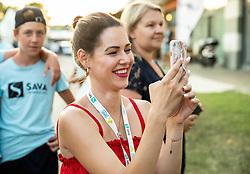Vanesa Rola, wife of Blaz Rola of Slovenia after winning Singles in Quarter - Final of ATP Challenger Zavarovalnica Sava Slovenia Open 2019, day 8, on August 16, 2019 in Sports centre, Portoroz/Portorose, Slovenia. Photo by Vid Ponikvar / Sportida