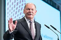 09 MAY 2019, BERLIN/GERMANY:<br /> Olaf Scholz, SPD, Bundesfinanzminister, haelt eine Rede, Wirtschaftskonferenz, Wirtschaftsforum der SPD, Kalkscheune<br /> IMAGE: 20190509-01-211