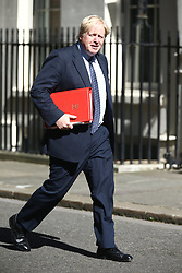 © Licensed to London News Pictures. 13/06/2017. London, UK. Boris Johnson arrives at Downing Street for the second cabinet meeting in two days ahead of todays visit by DUP leader Arlene Foster. Photo credit: Andrew McCaren/LNP