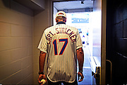 FARMINGDALE, NY - AUGUST 26: Steve Stricker, Captain of the 2017 Unites States Presidents Cup team, throws out the first pitch at the NY Mets Vs Philadelphia Phillies game at Citi Field after the second round of The Barclays at Bethpage State Park (Black) on August 26, 2016 in Farmingdale, New York. (Photo by Chris Condon/PGA TOUR)