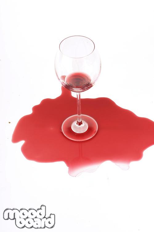Studio shot of wine stain