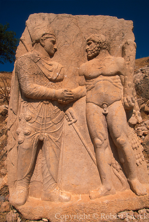 TURKEY, NEMRUT DAGI 'Dexiosis Relief', father and Hercules