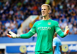Joe Hart of Manchester City appeals to the linesman - Mandatory byline: Matt McNulty/JMP - 07966386802 - 23/08/2015 - FOOTBALL - Goodison Park -Everton,England - Everton v Manchester City - Barclays Premier League