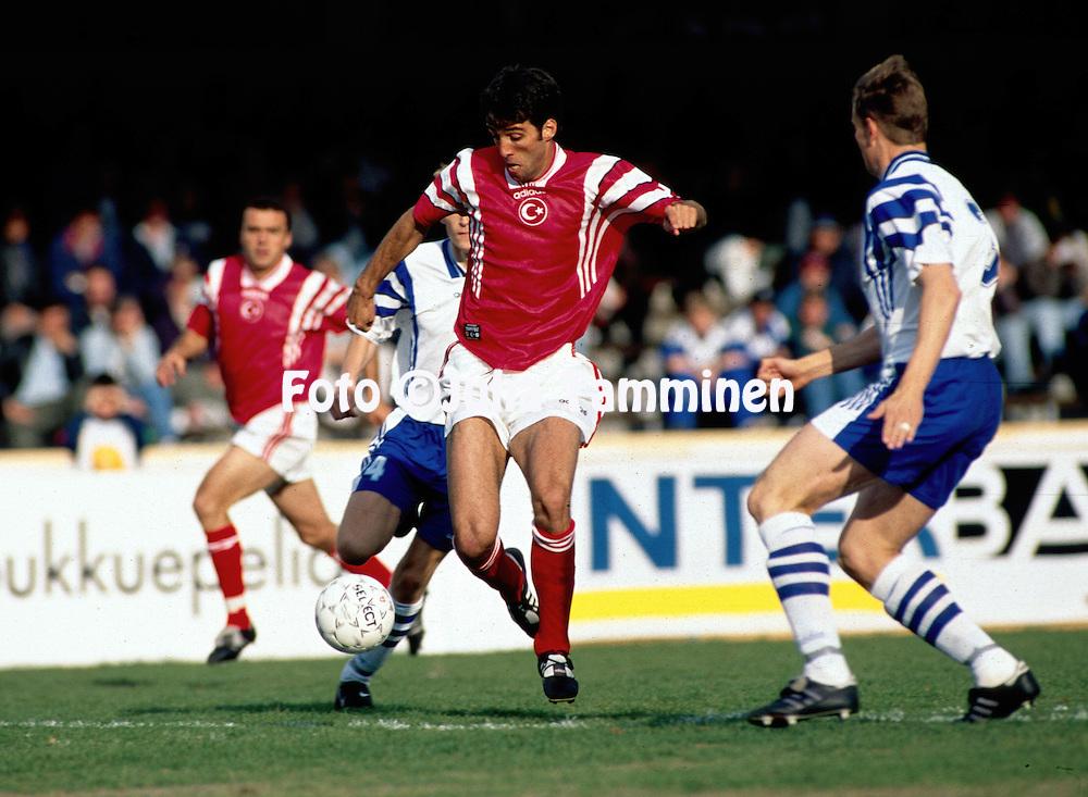 02.06.1996, Olympic Stadium, Helsinki, Finland.Friendly International match, Finland v Turkey..Hakan S?k?r - Turkey.©JUHA TAMMINEN