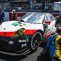 #91, Porsche Motorsport, Porsche 911 RSR (2017), driven by: Richard Lietz, Frederic Makowiecki, Patrick Pilet, on 17/06/2017 at the 24H of Le Mans, 2017