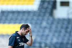 Derby County manager Frank Lampard cuts a frustrated figure - Mandatory by-line: Robbie Stephenson/JMP - 14/07/2018 - FOOTBALL - Meadow Lane - Nottingham, England - Notts County v Derby County - Pre-season friendly