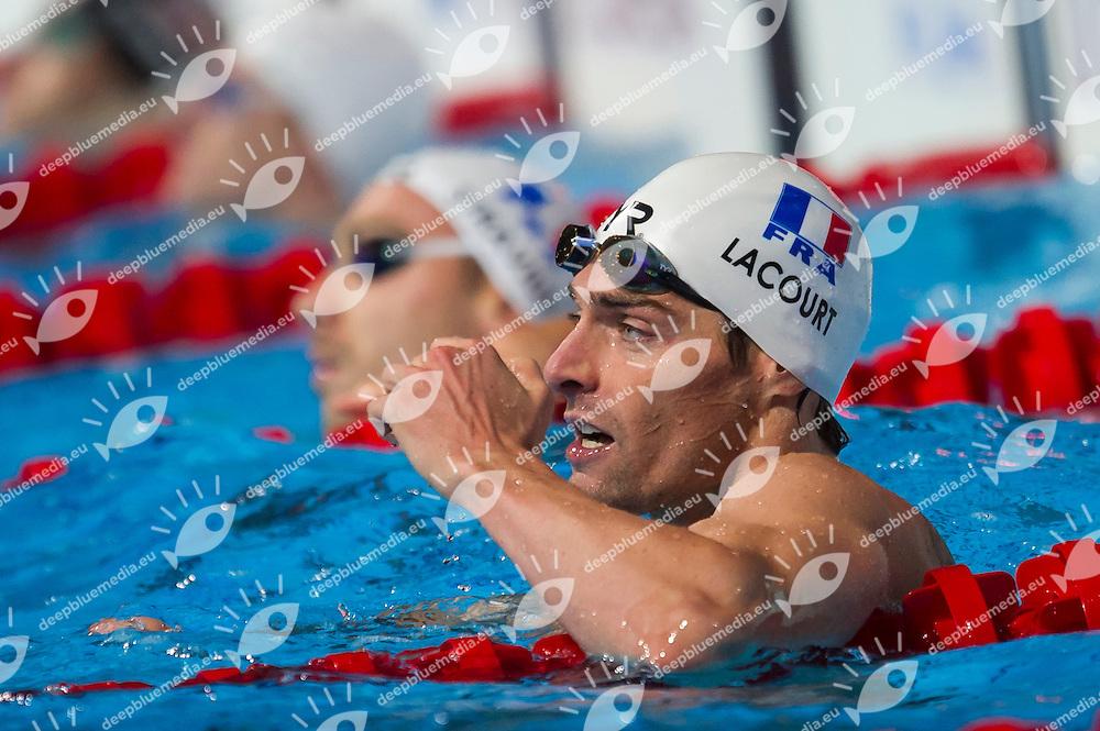 Camille Lacourt FRA<br /> Men's 50m backstroke semifinal<br /> 15th FINA World Aquatics Championships<br /> Palau Sant Jordi, Barcelona (Spain) 03/08/2013 <br /> &copy; Giorgio Perottino / Deepbluemedia.eu / Insidefoto
