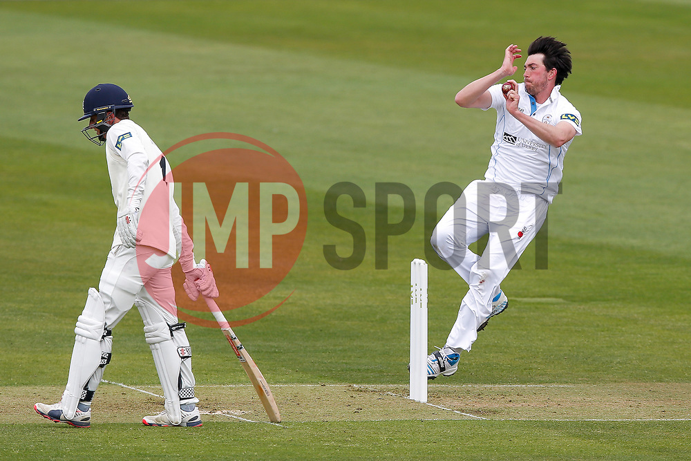 Will Tavare of Gloucestershire bowls - Photo mandatory by-line: Rogan Thomson/JMP - 07966 386802 - 26/04/2015 - SPORT - CRICKET - Bristol, England - Bristol County Ground - Gloucestershire v Derbyshire — Day 1 - LV= County Championship Division Two.