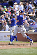CHICAGO - MAY 17:  Daniel Murphy #28 of the New York Mets bats against the Chicago Cubs on May 17, 2013 at Wrigley Field in Chicago, Illinois.  The Mets defeated the Cubs 3-2.  (Photo by Ron Vesely/MLB Photos via Getty Images)  *** Local Caption *** Daniel Murphy