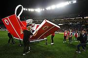 Vodafone half time activities. Round nine Telstra Premiership NRL match, Vodafone Warriors v Canberra Raiders, Eden Park, Auckland, New Zealand. Saturday 10th May 2014. Photo: photosport.co.nz