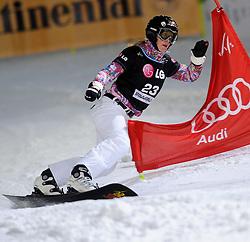 10-10-2010 SNOWBOARDEN: LG FIS WORLDCUP: LANDGRAAF<br /> First World Cup parallel slalom of the season / KARSTENS Anke GER<br /> ©2010-WWW.FOTOHOOGENDOORN.NL
